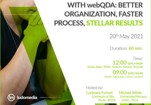 Demo SessionLiterature Review with webQDA: better organization, faster process, stellar results